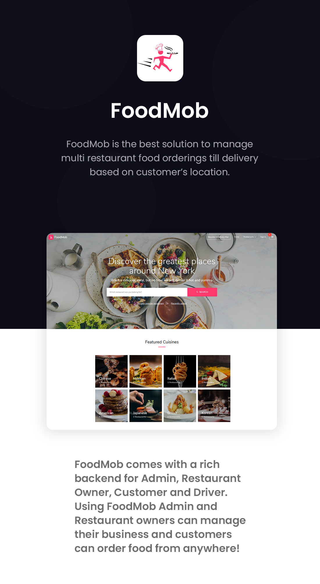 FoodMob - An Online Multi Restaurant Food Ordering and Management with Delivery System - 1